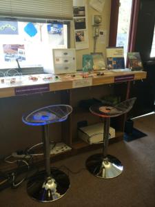 LED stools at the Little Bits bar at NMHS