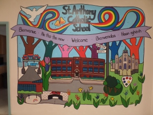 mural project painted earlier this year by the students of St. Anthony