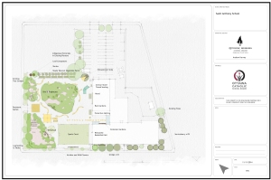 concept plan drawn up by Evergreen